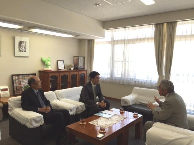 Meeting between SG Fujita and Dr. Yamaguchi, President of the Saitama University