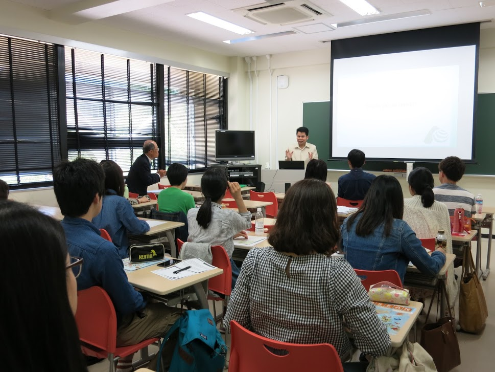 Lecture at Saitama University by Mr. Virak (Photo provided by Saitama University)