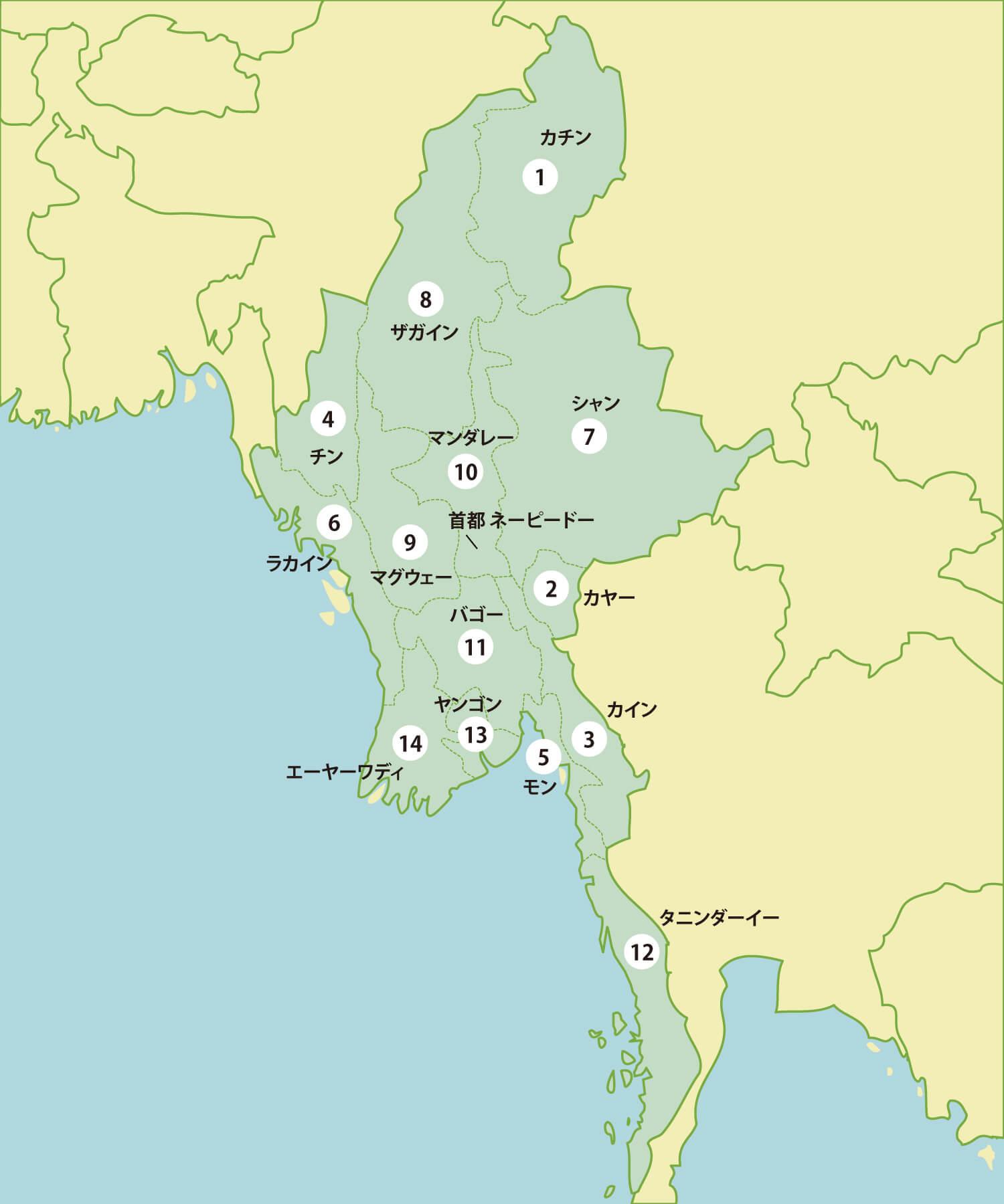 ミャンマーの工業団地リスト