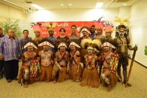駐日インドネシア大使 ユスロン・イザ・マヘンドラ閣下とパプアから来日した関係者