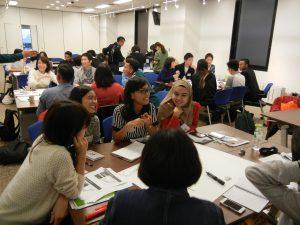 日本人学生達とのグループ・ディスカッション